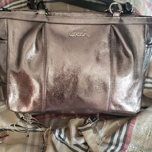 Coach East /West Gallery Tote Silver